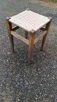 Fa szék fonott ülőkével