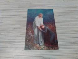 Antik képeslap. Vallás témában.