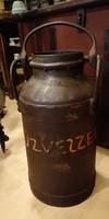 Tejes kanna, 20 literes, jelzett fém tartály, loft dekoráció