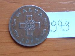 MÁLTA 1 CENT 1975 90-70% Réz, 10-30% Cink,George Cross #979