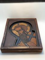 Havas Péter bőr falikép, Jézus ábrázolás