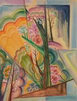 Original painting by Goncharova, Natalia
