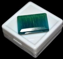 Különleges Aukció ! Brazil kék macska szem smaragd vágott IGL tanúsítvánnyal