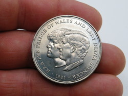 KK1212 1981 Anglia 25 pence érme Diana hercegnő