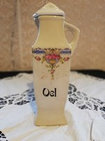 Eladó antik szecessziós porcelán virágos olaj tartó!