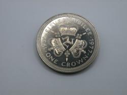 KK1215 1977 MAN sziget  1 korona érme Isle of Man One crown