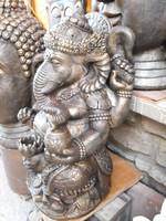 Ritka Nagy Ganésa Hindu istenség Japán kerti Keleti kertépítő Műkő tömör szobor