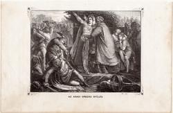 Az aradi ország gyűlés, metszet 1860, eredeti, fametszet, történelem, Geiger - féle kép, 1132, Arad