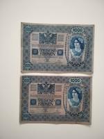 Színváltozatok, ugyanaz a sorozat, 1000 korona 1902