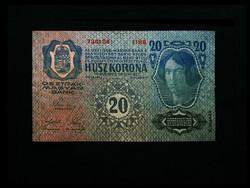 20 KORONA - 1913-BÓL - HAJTATLAN - Ritka!