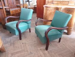 Vintage régi art deco fakarfás fotel