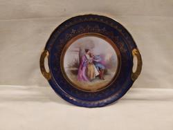 Gyönyörű antik Alt Vien porcelán asztalközép,kínáló