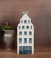KLM Delft porcelán házikó alakú flaska - Bols Genever szeszes ital palack - miniatűr ház