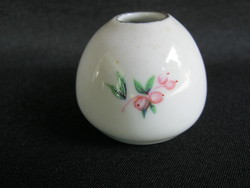 Hollóházi porcelán mini ibolya váza