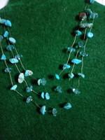 Szépséges kék türkiz nyaklánc (eredeti)