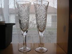 Ólom kristály pezsgős pohár pár lakodalomra is