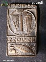 AE09 Szolnoki bronz emlékplakett
