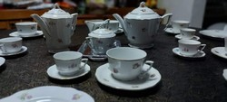 Zsolnay komplett teás, kávés ritka készlet süteményes tányérral.