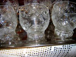 6 db kristály  pohár