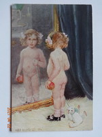 Régi, antik képeslap, Astrid Kjellberg-Juel: A modern Éva
