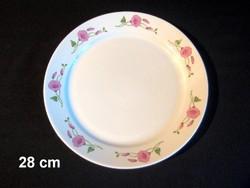 Nagyon szép virág mintás alföldi porcelán süteményes vagy pecsenyés kínáló tál
