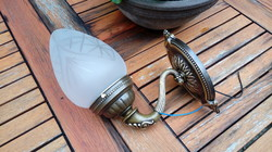 Antik réz falikar, fali lámpa eladó