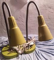 RETRO 2 db. FLEXIBILIS asztali ipari lámpa, MŰHELYLÁMPA, íróasztal lámpa