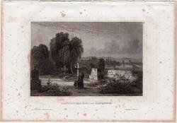 Mannheim, acélmetszet 1861, Meyers Universum, eredeti, 10 x 15 cm, metszet, Németország, Todtenacker