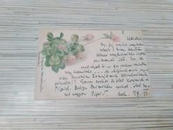Antik Litográf Üdvözlő képeslap. (1899).