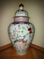 XXL Herendi Paon de Peking váza 60cm!