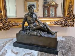 Zeusz mitológiai - bronz szobor