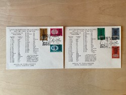 17. Sakkolimpia, Havanna, Kuba 1966 - XVII Olimpiada de Ajedrez - 2db FDC/alakalmi boríték