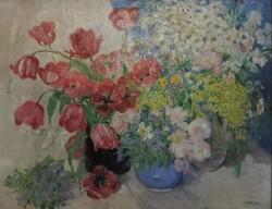 Telkessy Valéria virágok vázában