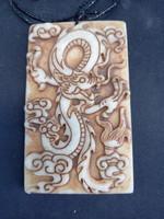 Kínai jade amulett. c1950.Antik