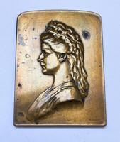 Erzsébet királyné (Sissi) emlékmű felavatása 1907,bécsi emlékérem.