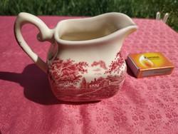 Gyönyörű angol jelenetes porcelán tejszínes kiöntő