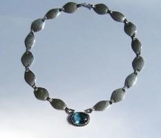 Látványos ezüst nyakék ritka nagy London Blue Topázzal