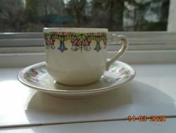 1884 MZ ALTROHLAU jelzéssel,számozott virág mintás  kávés csésze alátéttel