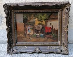 Neogrády Antal (1861-1942) Eredeti Festmény Garanciával
