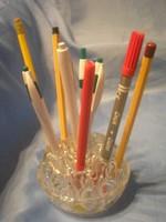 N27 art decó 21 férőhelyes íróasztali toll, ceruza, töltőtoll tartó ritkaság eladó