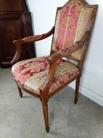 Francia barokk karfás fotel