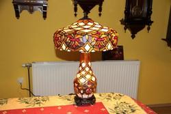 Tiffany lámpa élénk színek, hatalmas 60 cm 2.