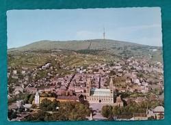 Pécs - Látkép - régi képeslap 1974