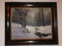 Téli erdő-Mesterházy Dénes