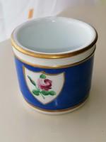Elbogen cseh porcelán, tégely, fűszertarto 1832 ből