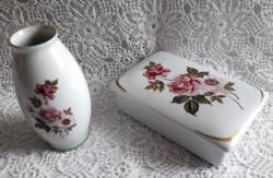 Hollóházi bonbonier és kis váza