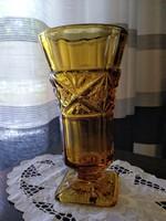 Borostyán színű art deco váza