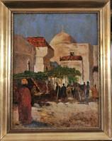 János Tahy (1863-1928): Ottomán utca látkép,