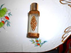 Fém rátét dísszel antik illatszeres üveg
