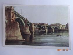 Régi képeslap - Zádor István: A Margit Híd (1955)